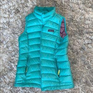 teal Patagonia vest